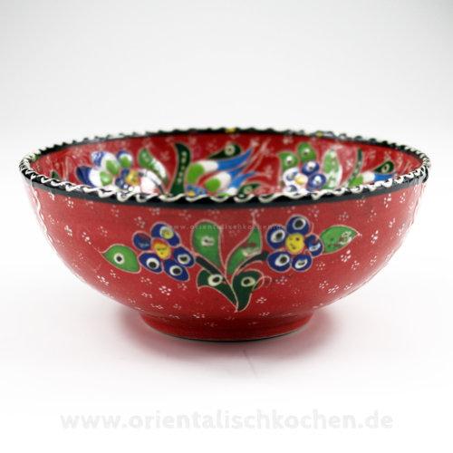 keramikschale rot orientalischkochen in wentorf bei hamburg