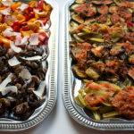 Orientalisch Kochen Catering Fingerfood mit angebratenem Gemüse