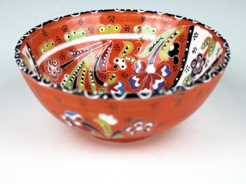 keramikschale_iznik-design_orange_125a in wentorf